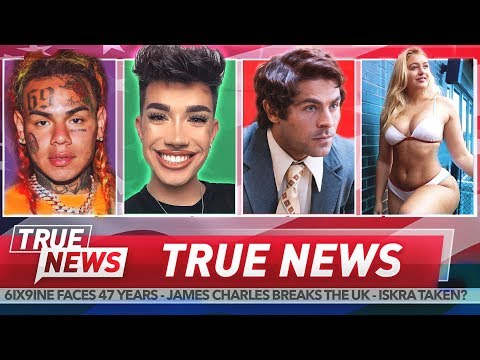 6ix9ine confesses, James Charles triggers, Zac Efron controversy thumbnail