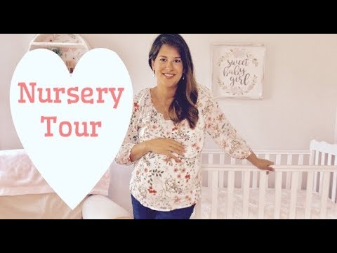 Baby Girl Nursery Tour Pottery Barn And Hobby Lobby Decor Youtube