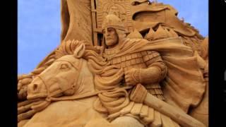 Скульптуры из песка часть 1