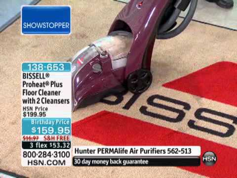 Bissell Proheat Plus Floor Cleaner With 2 Bottles Of Cle