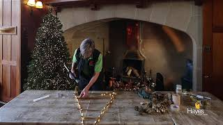 How to decorate a hanging twig tree for Christmas