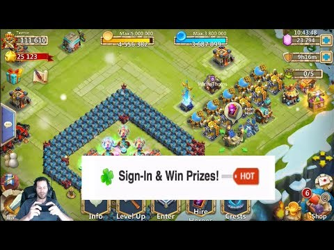 JT's Free 2 Play Hidden GEMS Sign IN & Win Event Hero Rolls Castle Clash