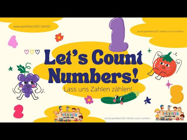 Let's Count Numbers - Zahlen von 1-10-ENGLISCH I Spielideen von Ben & Max - www.spielideen2021.de/GO