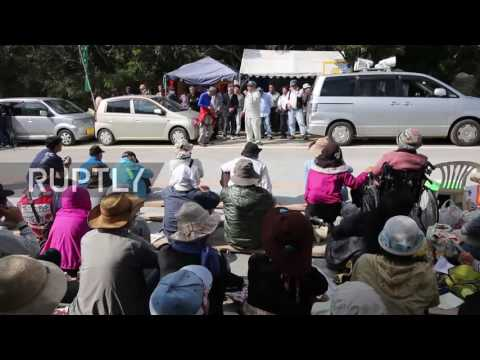 Japan: Sit-in staged against relocation of US military base in Okinawa