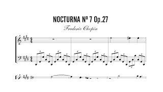 Partitura: Frederic Chopin - Nocturna (Nocturne) Nº 7 Op. 27 | Clases de Produccion de Partituras