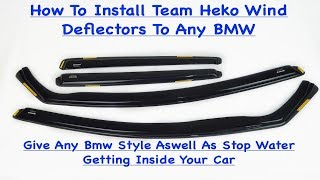 Team Heko Wind Deflectors How To Install To Any Car Easy And Simple