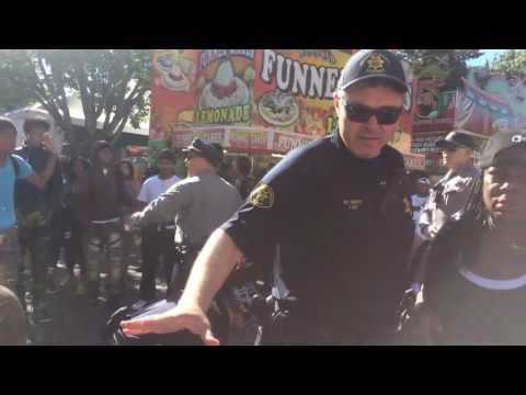 RAW: A fight broke out at the Alameda County Fair