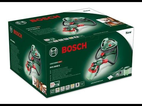 Bosch PFS 5000 краскораспылитель электрический - YouTube