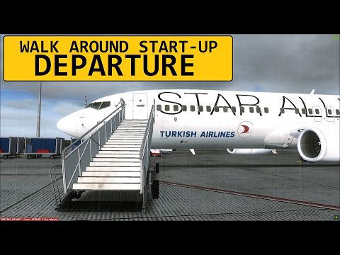 FSX Departure Istanbul (LTBA) to Antalya (LTAI) | PMDG 737 Turkish Airlines Star Alliance Livery