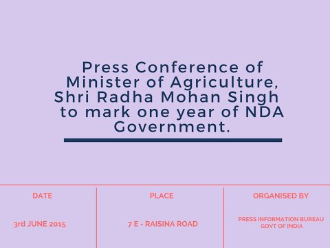 #NDAOneYear: Press Conf. of Agriculture Minister
