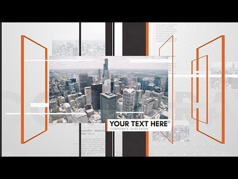 Simple Space Slideshow | After Effects Template | Video Displays