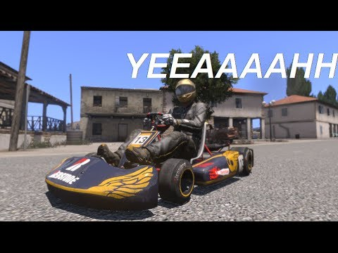 Go Karts Are Real! Arma 3 Trial + Trackir - YouTube
