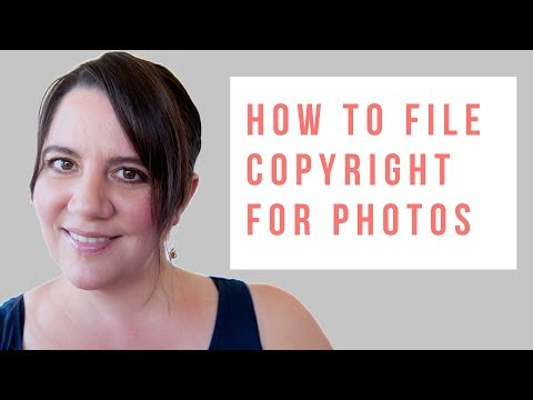 how to file a copyright for photos