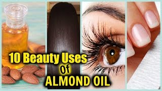 BEAUTY USES OF ALMOND OIL! │ LONG SHINY HAIR, GLOWING SKIN, PREVENT WRINKLES, GROW EYELASHES!