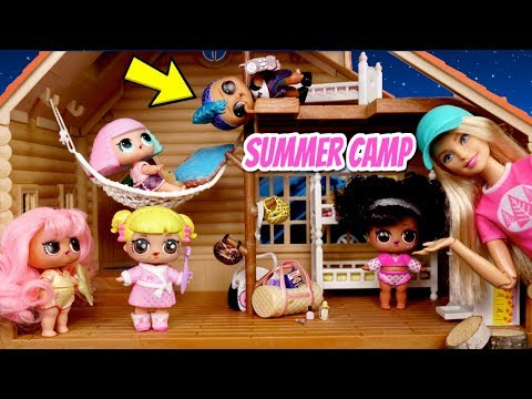 LOL Dolls Go to Barbie Summer Camp - Baby Goldie & Punk Boi Adventures