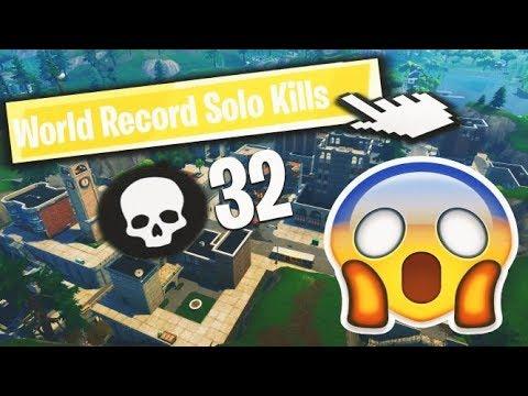 Fortnite SOLO World Record (32 Kills) GamerzArena $1000 Contest