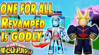 NEW ONE FOR ALL REVAMPED IS GODLY | Boku No Roblox Remastered