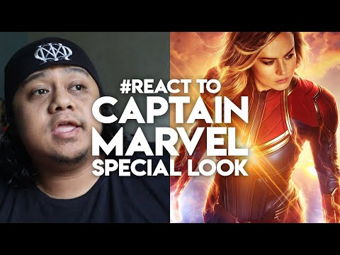 #React to CAPTAIN MARVEL SPECIAL LOOK | Marvel Malaysia Reaction