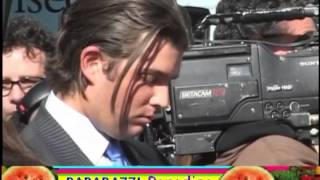 DONALD TRUMP JR and wife VANESSA kiss at DONALD TRUMP star on Hollywood Walk of Fame ceremony