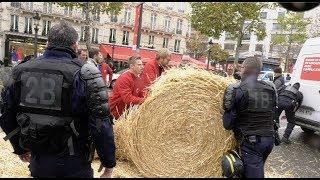 Agriculteurs : blocage des Champs-Élysées (27 novembre 2019, Paris) [4K]