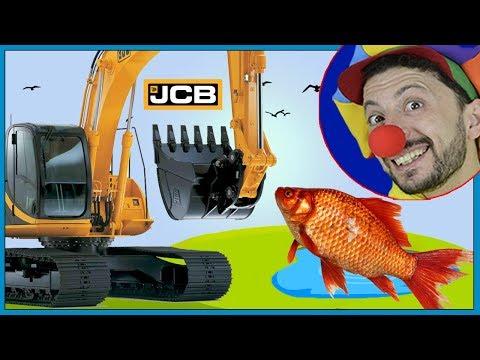 Fish for Kids & Construction vehicles Toys Excavator Backhoe