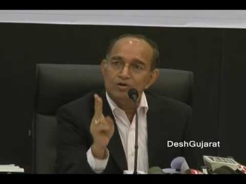 Chief Election Commissioner of India Sampath speaks to media in Ahmedabad, Gujarat
