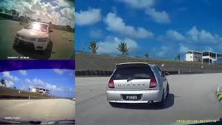 Mitsubishi Evo Mirage & Honda FD2R Cam Footage Track Day (Merged)