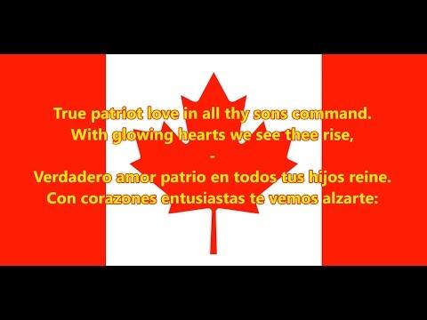 Himno nacional de Canadá - Anthem of Canada (EN/ES letra)