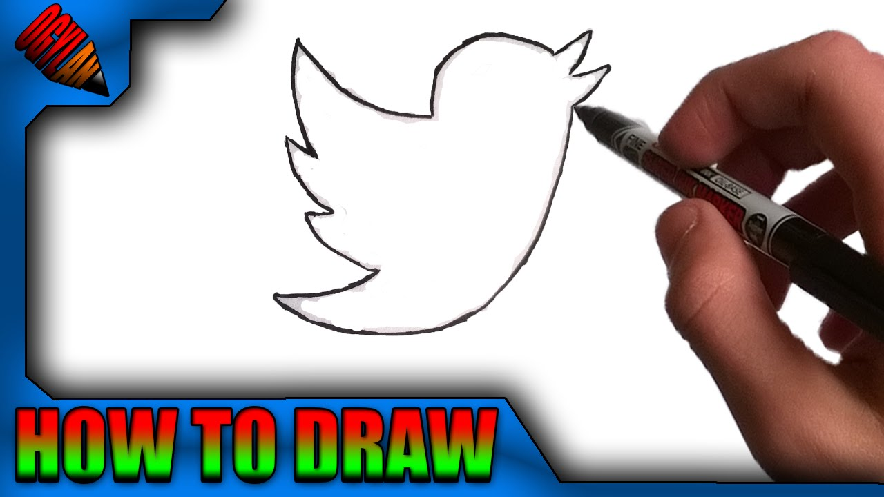 How To Draw The Twitter Logo Easy Youtube
