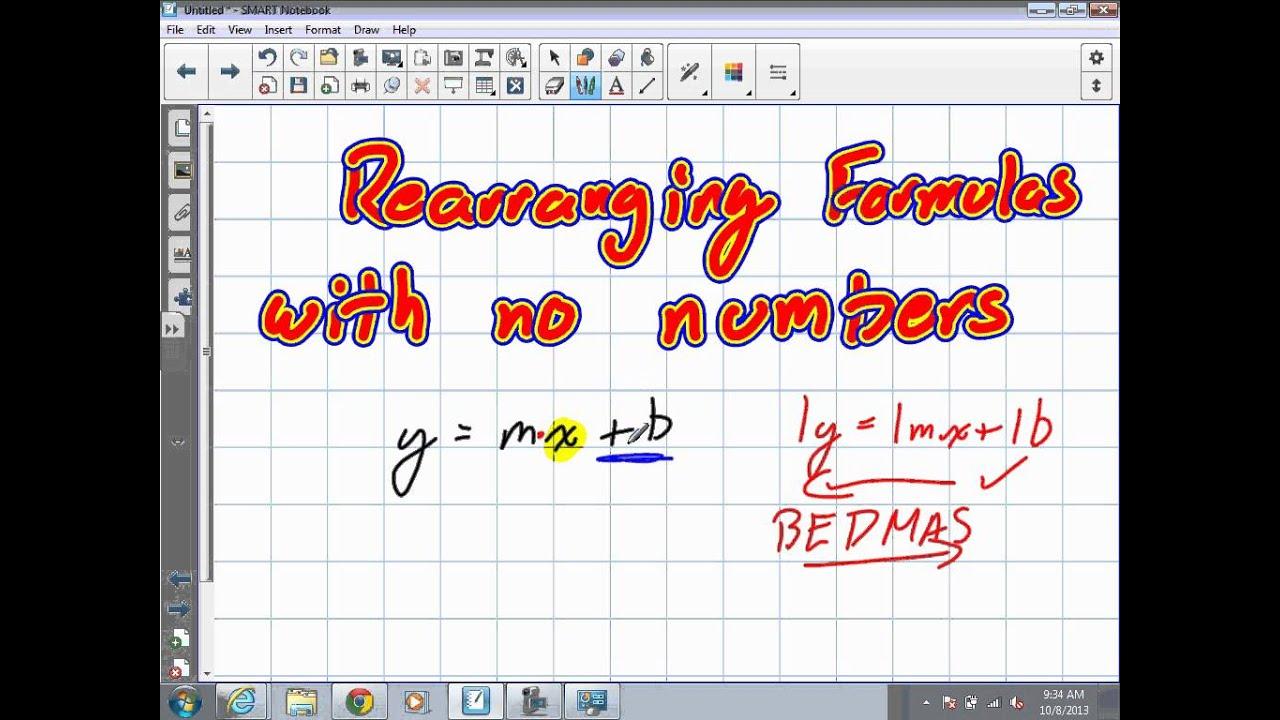 Rearranging Equations Grade 9