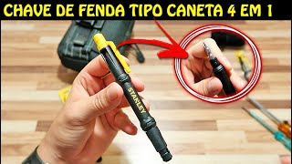CHAVE PHILIPS TIPO CANETA 4 EM 1 - STANLEY POCKET SCREWDRIVER