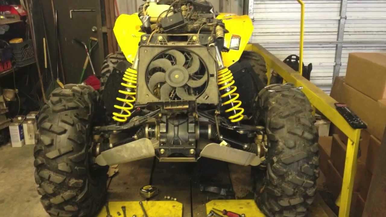 Can Am Outlander 800 >> Renegade Rebuild - After the Crash - Part 1: Custom Bumper - YouTube