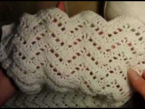 0 Как связать ажурный шарф,