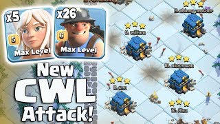 New CWL Attack Strategy 2019! 5 Max Healer+26 Miners+3 Heal Spell Easy 3Star 3 inferno TH12 War Base