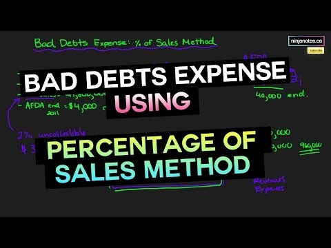 Sales Method Or Income Approach For Bad Debts Expense (Financial Accounting Tutorial #43)
