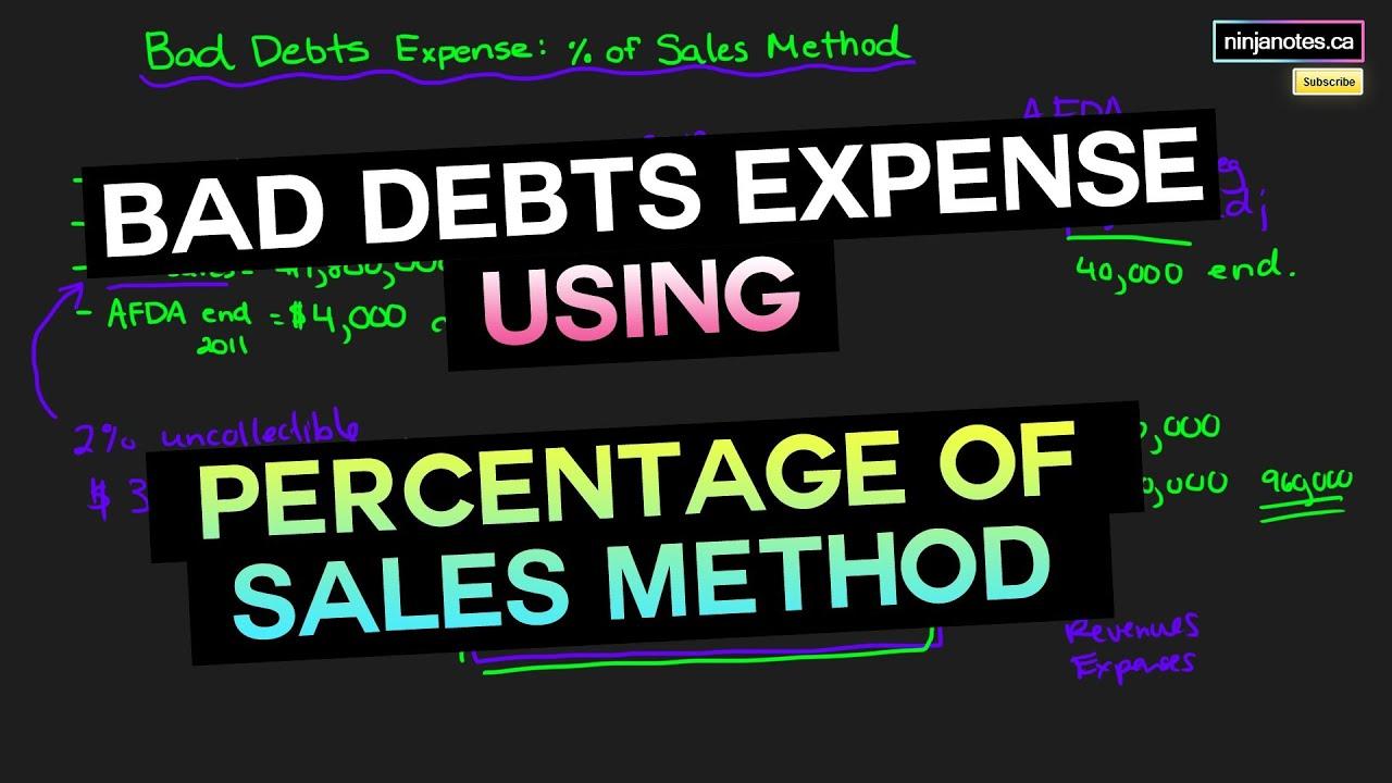 Estimating Bad Debts   Financial Accounting