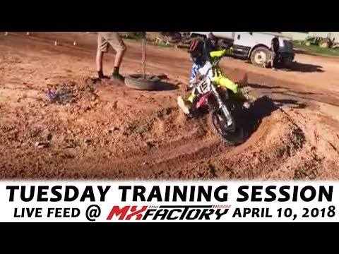 Tuesday Motocross Training LIVE FEED - MotoLimbo Corner/Rut Training! - April 10, 2018