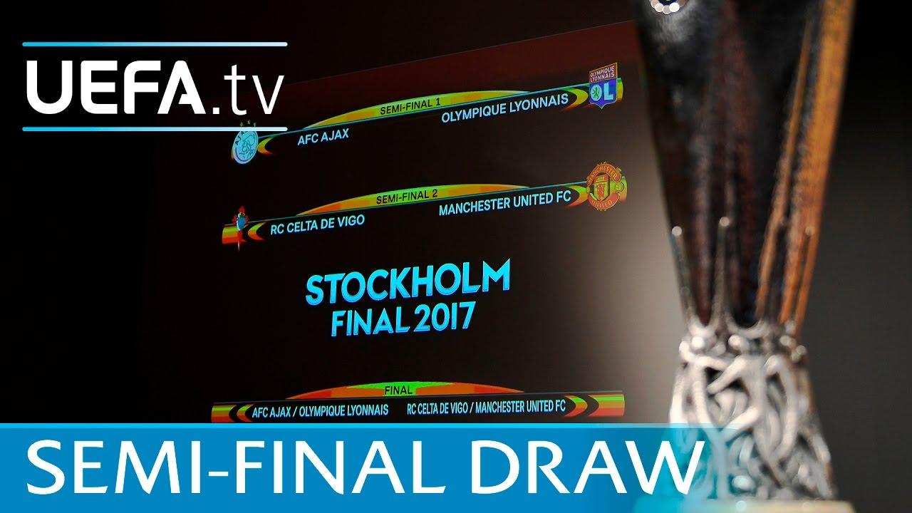 Watch The Full Uefa Europa League Semi Final Draw 2016 17 Youtube