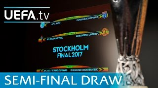 Watch the full UEFA Europa League semi-final draw 2016/17