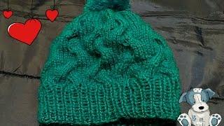 Вязание спицами шапки с косами для ребенка