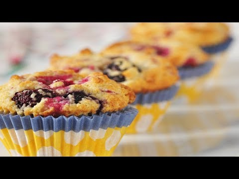 Buttermilk Berry Muffins Recipe Demonstration - Joyofbaking.com