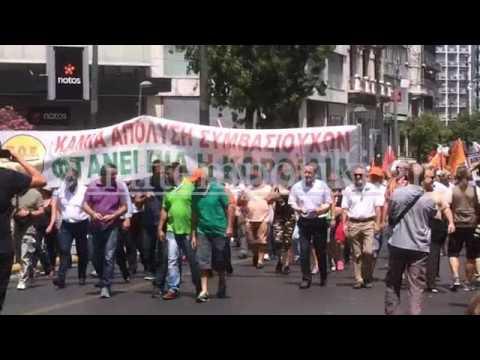 Ξεκίνησε η πορεία της ΠΟΕ-ΟΤΑ για τους συμβασιούχους