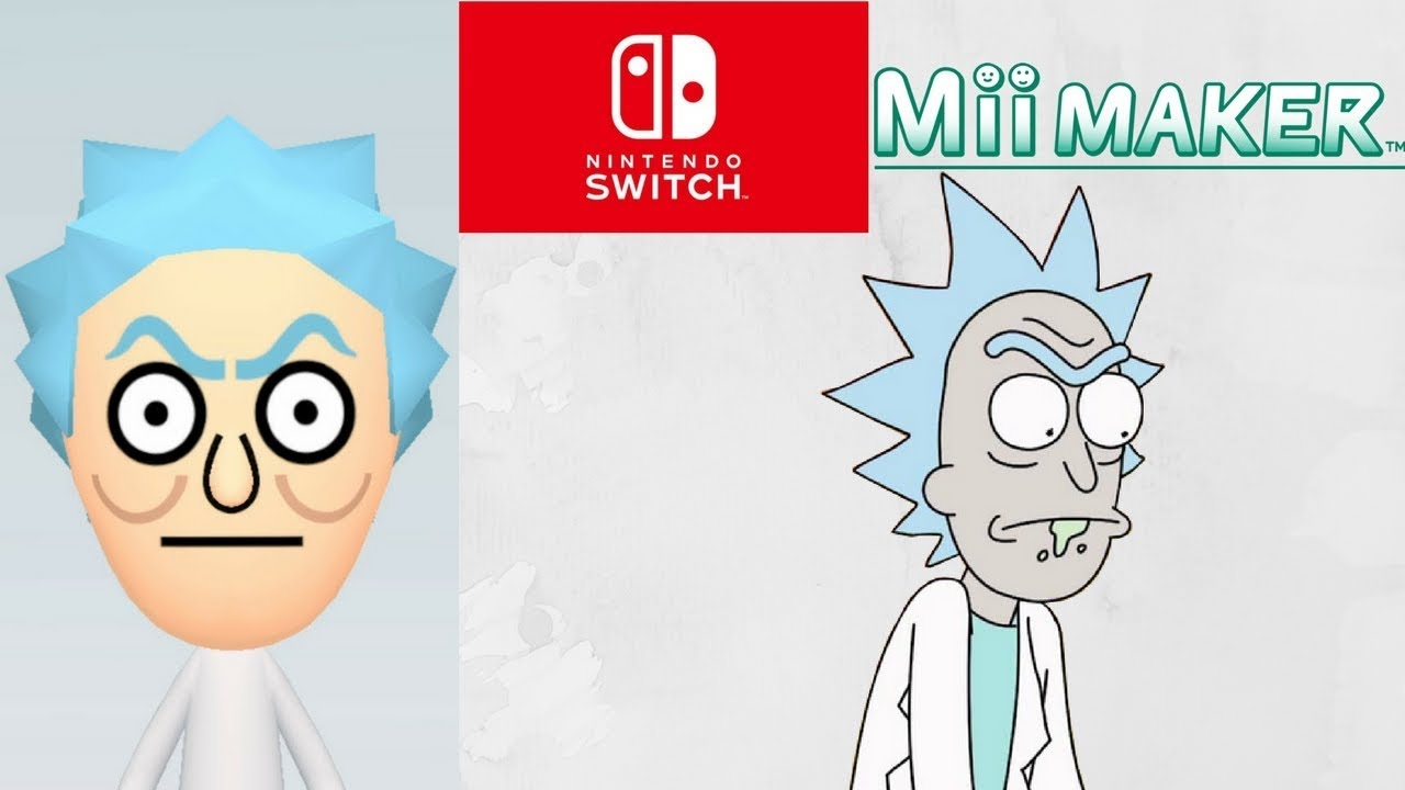 mii maker how to create rick from rick and morty youtube