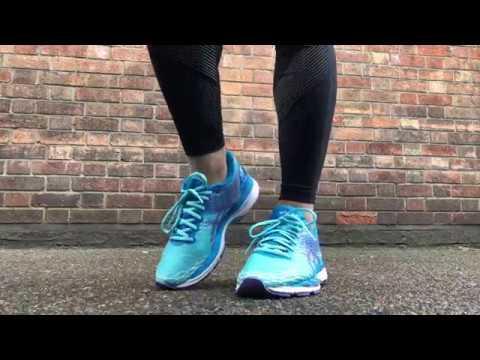 8725e112f26e Women  s ASICS Gel Nimbus 18 (Turquoise Iris Methyl Blue) - YouTube
