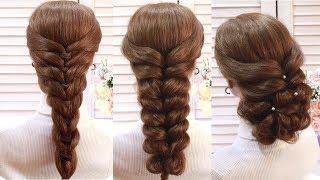 видео Вечерние прически с косами