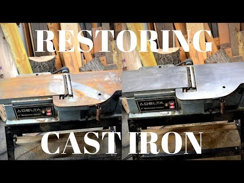 How to restore cast iron table tops