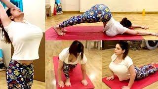 Zareen Khan Yoga Workout Video 2019