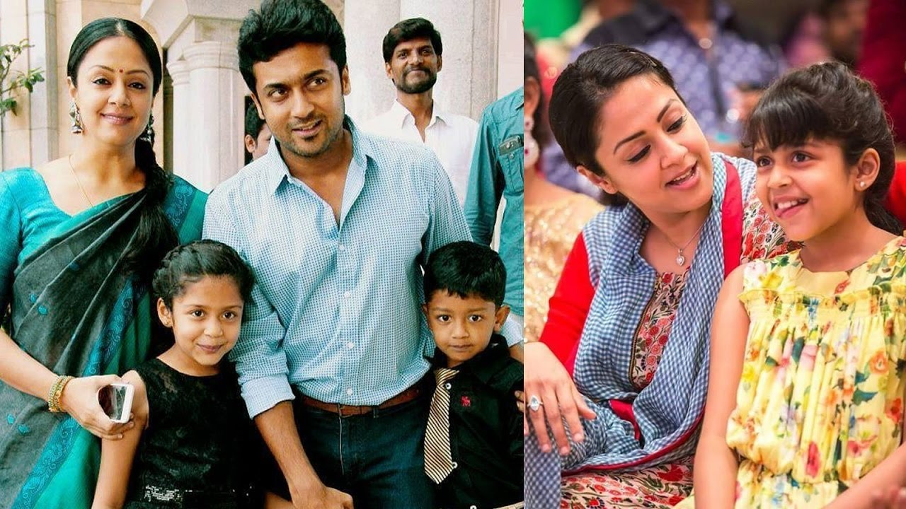tamil actor surya and jyothika family photos - YouTube
