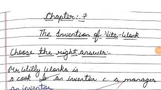 nvention of vita vonka QUEST ON ANSWERS full explanation chapter 7 ncert English