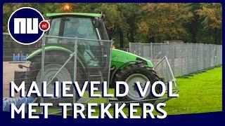 Boeren rijden hekken omver op Malieveld | NU nl